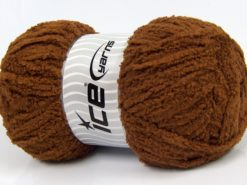 Lot of 4 x 100gr Skeins Ice Yarns PUFFY (100% MicroFiber) Yarn Brown