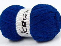 Lot of 4 x 100gr Skeins Ice Yarns PUFFY (100% MicroFiber) Yarn Saxe Blue