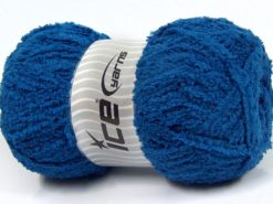 Lot of 4 x 100gr Skeins Ice Yarns PUFFY (100% MicroFiber) Yarn Blue