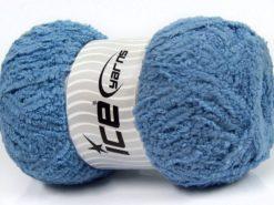 Lot of 4 x 100gr Skeins Ice Yarns PUFFY (100% MicroFiber) Yarn Light Blue