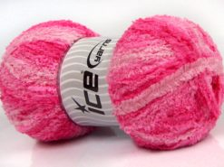 Lot of 4 x 100gr Skeins Ice Yarns PUFFY (100% MicroFiber) Yarn Pink Shades