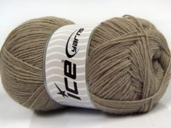 Lot of 4 x 100gr Skeins Ice Yarns SOLID SOCK (75% Superwash Wool) Yarn Mink