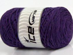 250 gr ICE YARNS MACRAME COTTON (100% Cotton) Hand Knitting Yarn Dark Purple