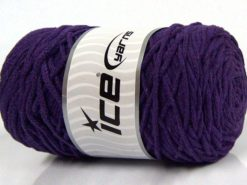 250 gr ICE YARNS MACRAME COTTON BULKY (100% Cotton) Yarn Dark Purple