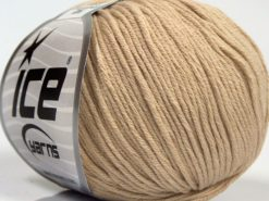 Lot of 8 Skeins Ice Yarns BABY SUMMER DK (50% Cotton) Hand Knitting Yarn Beige