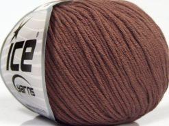 Lot of 8 Skeins Ice Yarns BABY SUMMER DK (50% Cotton) Yarn Rose Brown
