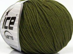 Lot of 8 Skeins Ice Yarns BABY SUMMER DK (50% Cotton) Hand Knitting Yarn Khaki
