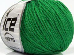 Lot of 8 Skeins Ice Yarns BABY SUMMER DK (50% Cotton) Hand Knitting Yarn Green