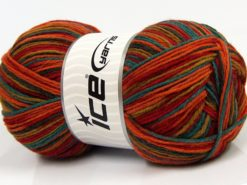 Lot of 2 x 150gr Skeins Ice Yarns GLAMOR SOCK (75% Superwash Wool) Yarn Rainbow