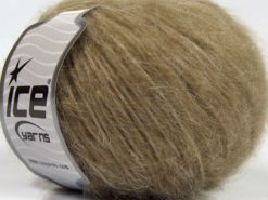 Lot of 8 Skeins Ice Yarns FLEECY WOOL (22% Wool) Hand Knitting Yarn Camel
