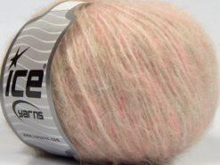Lot of 8 Skeins Ice Yarns FLEECY WOOL (22% Wool) Yarn Light Pink Beige
