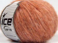 Lot of 8 Skeins Ice Yarns FLEECY WOOL (22% Wool) Yarn Salmon Shades