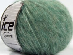 Lot of 8 Skeins Ice Yarns FLEECY WOOL (22% Wool) Hand Knitting Yarn Water Green