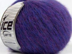 Lot of 8 Skeins Ice Yarns FLEECY WOOL (22% Wool) Yarn Purple Lilac