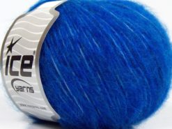 Lot of 8 Skeins Ice Yarns FLEECY WOOL (22% Wool) Yarn Saxe Blue Turquoise