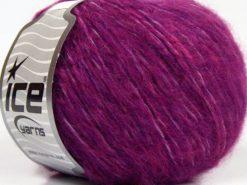 Lot of 8 Skeins Ice Yarns FLEECY WOOL (22% Wool) Yarn Dark Fuchsia