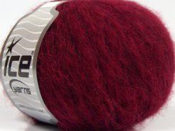 Lot of 8 Skeins Ice Yarns FLEECY WOOL (22% Wool) Hand Knitting Yarn Ruby Red