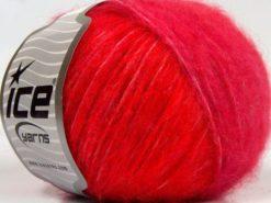 Lot of 8 Skeins Ice Yarns FLEECY WOOL (22% Wool) Yarn Red Light Pink