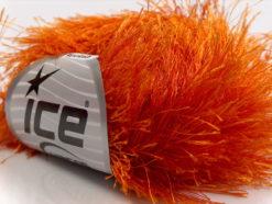 Lot of 8 Skeins Ice Yarns LONG EYELASH Hand Knitting Yarn Orange