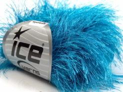 Lot of 8 Skeins Ice Yarns LONG EYELASH Hand Knitting Yarn Turquoise