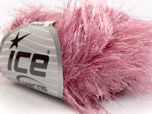 Lot of 8 Skeins Ice Yarns LONG EYELASH Hand Knitting Yarn Rose Pink