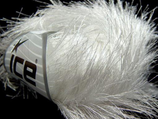Lot of 8 Skeins Ice Yarns LONG EYELASH Hand Knitting Yarn White