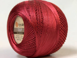 Lot of 6 Skeins YarnArt TULIP (100% MicroFiber) Hand Knitting Yarn Red