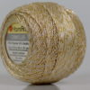 Lot of 10 Skeins YarnArt CAMELLIA (30% Metallic) Hand Knitting Yarn Cream Gold