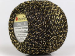 Lot of 10 Skeins YarnArt CAMELLIA (30% Metallic) Hand Knitting Yarn Black Gold