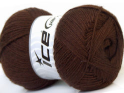 Lot of 4 x 100gr Skeins Ice Yarns MERINO GOLD (60% Merino Wool) Yarn Dark Brown