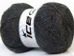 Lot of 4 x 100gr Skeins Ice Yarns MERINO GOLD (60% Merino Wool) Yarn Dark Grey