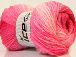 Lot of 4 x 100gr Skeins Ice Yarns MAGIC LIGHT Hand Knitting Yarn Pink Shades