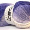 Lot of 4 x 100gr Skeins Ice Yarns MAGIC LIGHT Yarn Purple Lilac White