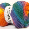 Lot of 4 x 100gr Skeins Ice Yarns MAGIC LIGHT Yarn Green Blue Purple Orange Yellow