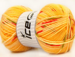 Lot of 4 x 100gr Skeins Ice Yarns BABY DESIGN Yarn Gold Yellow Red Green