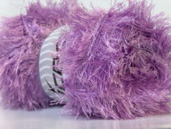 Lot of 4 x 100gr Skeins Ice Yarns EYELASH 100GR Hand Knitting Yarn Lilac