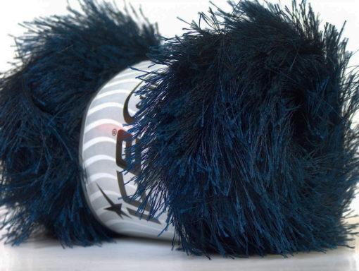Lot of 4 x 100gr Skeins Ice Yarns EYELASH 100GR Hand Knitting Yarn Navy