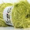 Lot of 4 x 100gr Skeins Ice Yarns EYELASH 100GR Hand Knitting Yarn Green