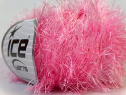 Lot of 8 Skeins Ice Yarns EYELASH Hand Knitting Yarn Light Pink