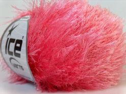 Lot of 8 Skeins Ice Yarns EYELASH Hand Knitting Yarn Pink