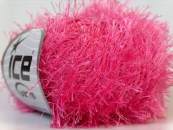 Lot of 8 Skeins Ice Yarns EYELASH Hand Knitting Yarn Candy Pink