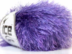 Lot of 8 Skeins Ice Yarns EYELASH Hand Knitting Yarn Lavender