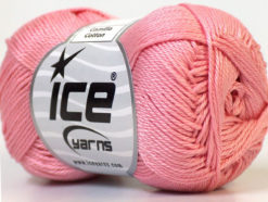 Lot of 6 Skeins Ice Yarns CAMILLA COTTON (100% Mercerized Cotton) Yarn Salmon