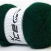 Lot of 4 x 100gr Skeins Ice Yarns DORA Hand Knitting Yarn Dark Green