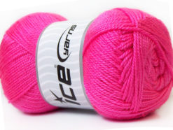 Lot of 4 x 100gr Skeins Ice Yarns DORA Hand Knitting Yarn Pink