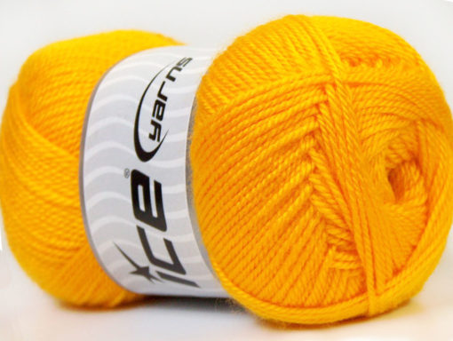 Lot of 4 x 100gr Skeins Ice Yarns DORA Hand Knitting Yarn Yellow