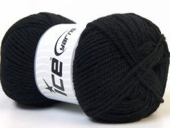 Lot of 4 x 100gr Skeins Ice Yarns Worsted FAVORITE Hand Knitting Yarn Black