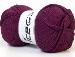 Lot of 4 x 100gr Skeins Ice Yarns Worsted FAVORITE Hand Knitting Yarn Maroon