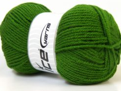 Lot of 4 x 100gr Skeins Ice Yarns Worsted FAVORITE Hand Knitting Yarn Green