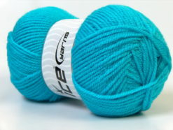 Lot of 4 x 100gr Skeins Ice Yarns Worsted FAVORITE Hand Knitting Yarn Turquoise